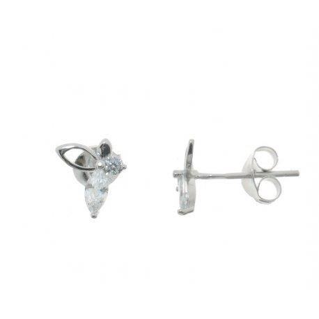 Серьги женские серебряные 925* родий цирконий Арт 115 1 938