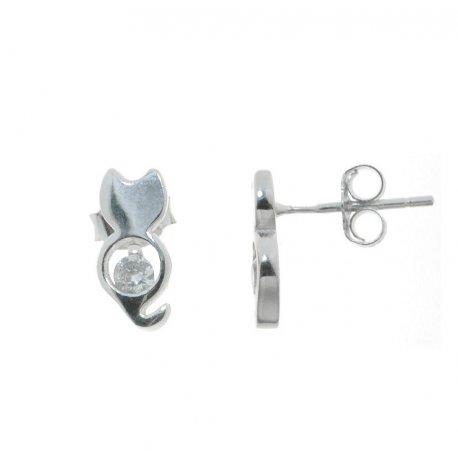Серьги женские серебряные 925* родий цирконий Арт 115 1 305-1