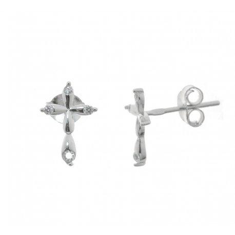 Сережки жіночі срібні 925* родій цирконій Арт 115 1 836