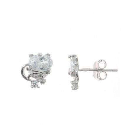 Сережки жіночі срібні 925* родій цирконій Арт 115 1 907