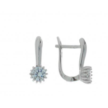 Серьги женские серебряные 925* родий цирконий Арт 11 3 2127
