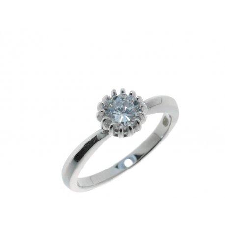 Кольцо женское серебряное 925* родий цирконий Арт 15 3 2127