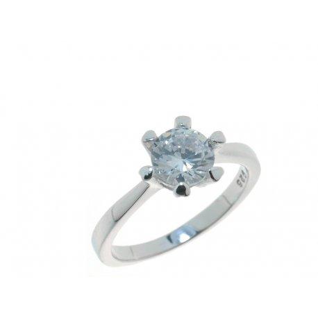 Кольцо женское серебряное 925* родий цирконий Арт 15 3 3272