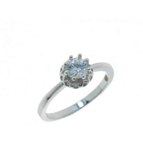 Кольцо женское серебряное 925* родий цирконий Арт 15 3 4471