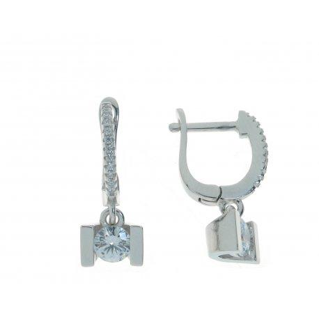 Серьги женские серебряные 925* родий цирконий Арт 11 3 4716