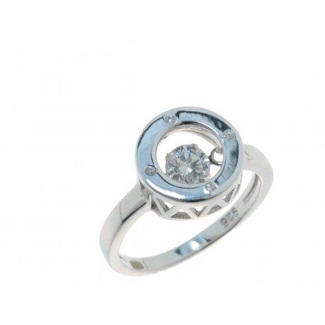 Кольцо женское серебряное 925* родий цирконий Арт 15 3 1359