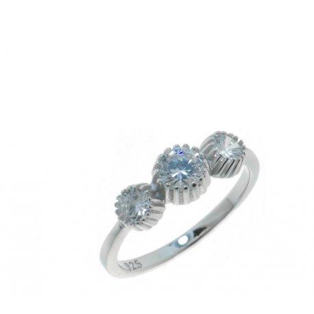 Кольцо женское серебряное 925* родий цирконий Арт 15 3 3113