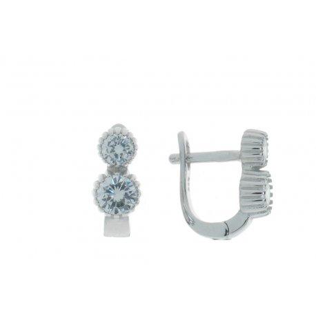 Серьги женские серебряные 925* родий цирконий Арт 11 3 3113