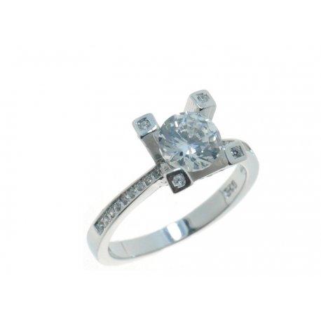 Кольцо женское серебряное 925* родий цирконий Арт 15 3 4325