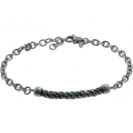 Браслет чоловічий срібний 925* родій чорніння Арт 221 004-18+3