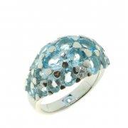 Кольцо женское серебряное 925* родий топаз Артикул 15 0 6077tp