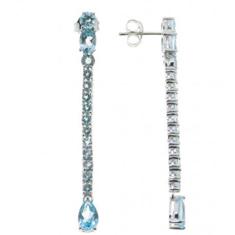 Серьги женские серебряные 925* родий топаз Артикул 11 0 5288tp