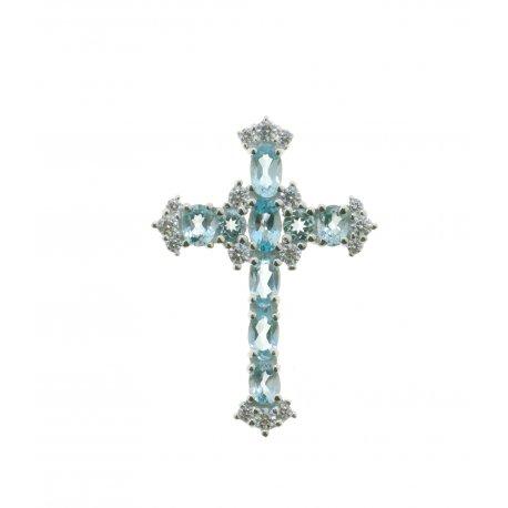 Підвіс жіночий срібний 925* родій топаз Артикул 13 0 6091tp