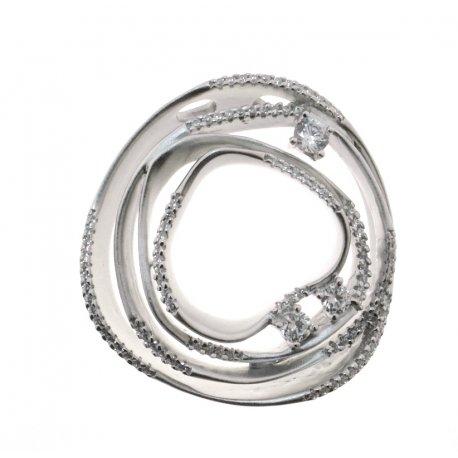 Підвіс жіночий срібний 925* родій цирконій Арт 13 7 2402