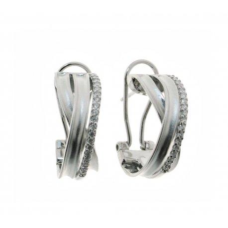 Серьги женские серебряные 925* родий цирконий Арт 11 7 2618