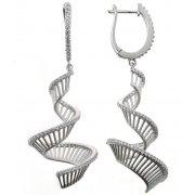 Сережки жіночі срібні 925* родій цирконій Арт 11 7 2544