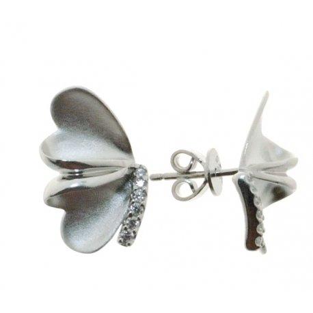 Серьги женские серебряные 925* родий цирконий Арт 11 7 3617