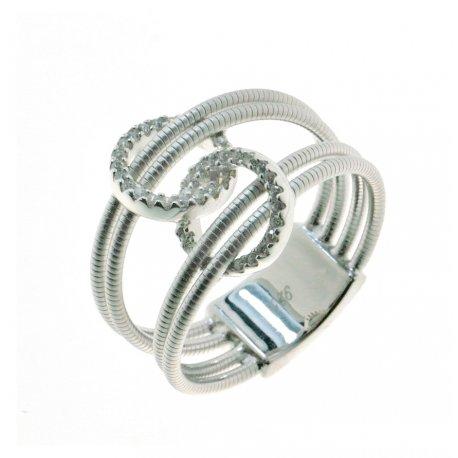 Кольцо женское серебряное 925* родий цирконий Арт 15 7 2420