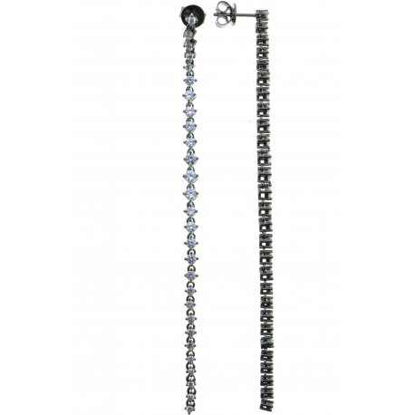 Сережки жіночі срібні 925* чорніння цирконій Арт 11 7 4011ч