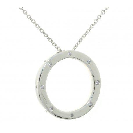 Кольє жіноче срібне 925* родій цирконій Арт 12 7 3269б