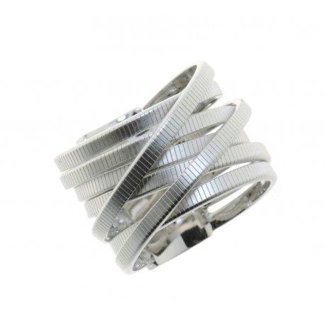 Кольцо женское серебряное 925* родий Арт 15 7 3430