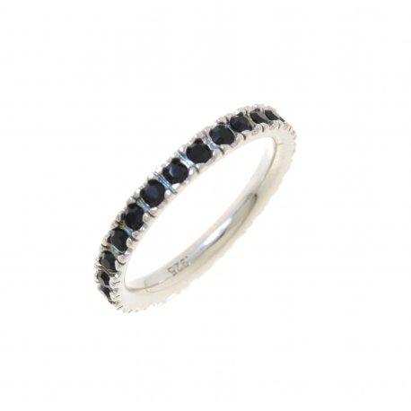 Кольцо женское серебряное 925* родий цирконий Арт 15 2 3356-96