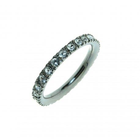 Кольцо женское серебряное 925* родий цирконий Арт 15 2 3374-96
