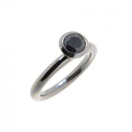 Кольцо женское серебряное 925* родий цирконий Арт 15 2 3377-89