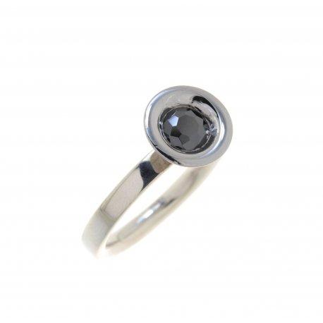 Кольцо женское серебряное 925* родий цирконий Арт 15 2 3535