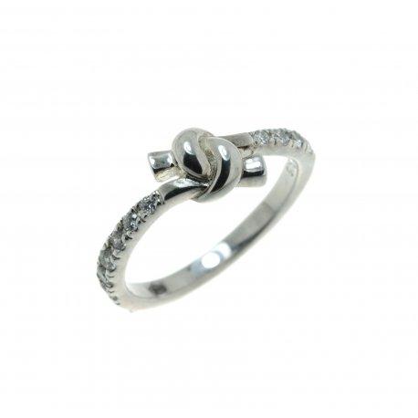 Каблучка жіноча срібна 925* родій цирконій Арт 15 2 3859-80