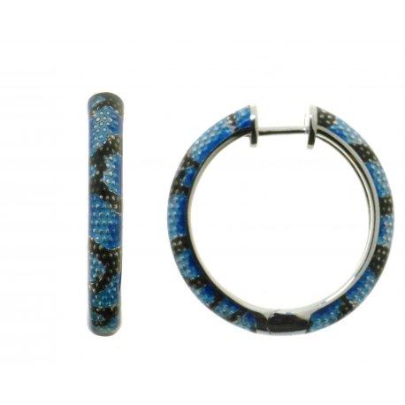 Серьги женские серебряные 925* родий эмаль Арт 11 8 1275г