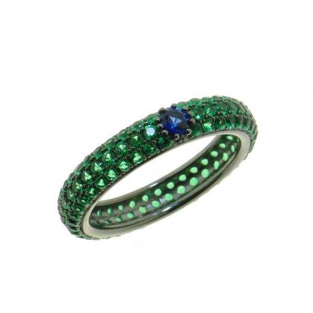 Кольцо женское серебряное 925* чернение цирконий Арт 15 8 0104з