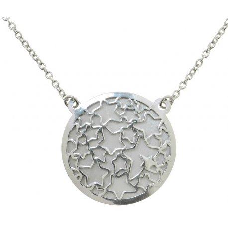Колье женское серебряное 925* родий Арт 220 4 448