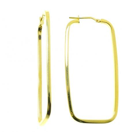 Серьги женские серебряные 925* позолота Арт 422 4 070С