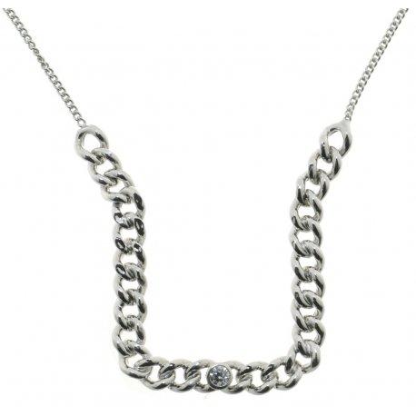 Колье женское серебряное 925* родий цирконий Арт 220 4 010EL