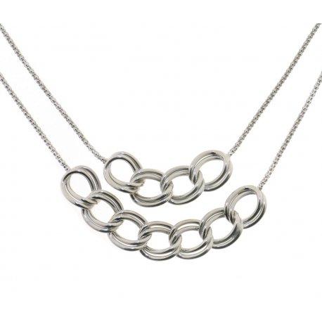 Колье женское серебряное 925* родий Арт 220 4 231Fa-42+3