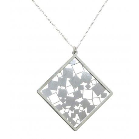 Кольє жіноче срібне 925* родій Арт 220 4 076-60+5