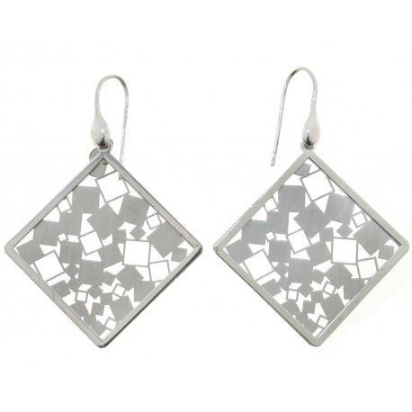 Сережки жіночі срібні 925* родій Арт 222 4 076