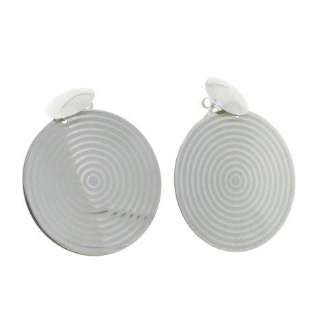 Сережки жіночі срібні 925* родій Арт 222 4 447MVs