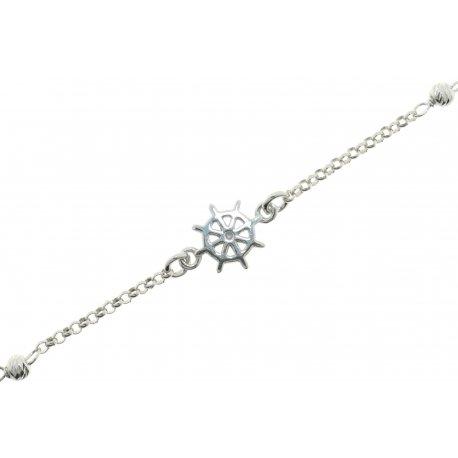 Браслет женский серебряный 925* родий Арт 221 028