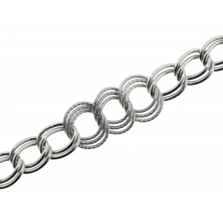 Браслет жіночий срібний 925* родій Арт 221 112