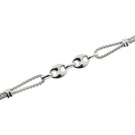 Браслет женский серебряный 925* родий Арт 221 321