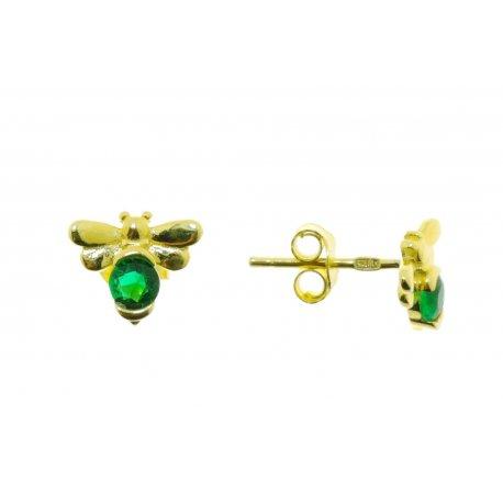 Серьги женские серебряные 925* позолота цирконий Арт 515 1 275