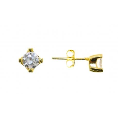Серьги женские серебряные 925* позолота цирконий Арт 515 1 366