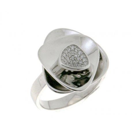 Каблучка жіноча срібна 925* родій цирконій Арт 15 5 2987