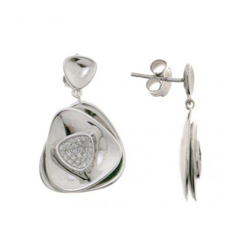 Серьги женские серебряные 925* родий цирконий Арт 11 5 2987