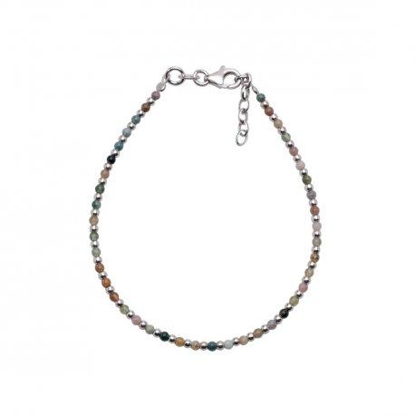 Браслет детский серебряный 925* родий цв. кварц Арт 131 132-18