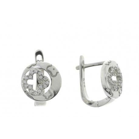Серьги женские серебряные 925* родий цирконий Арт 11 3 1251