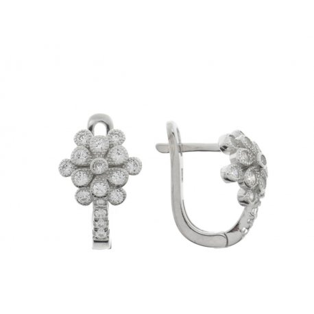 Серьги женские серебряные 925* родий цирконий Арт 11 3 8253