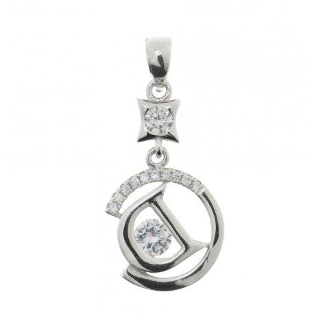 Підвіс жіночий срібний 925* родий цирконий Арт 13 3 9969